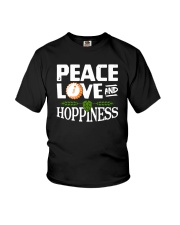 PEACE LOVE AND HOPPINESS Youth T-Shirt thumbnail