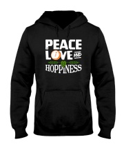 PEACE LOVE AND HOPPINESS Hooded Sweatshirt thumbnail