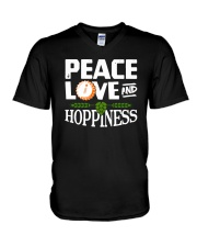 PEACE LOVE AND HOPPINESS V-Neck T-Shirt thumbnail