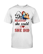 SHE DID T-SHIRT Classic T-Shirt front