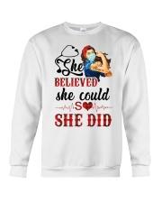 SHE DID T-SHIRT Crewneck Sweatshirt thumbnail