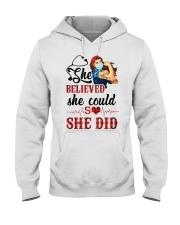 SHE DID T-SHIRT Hooded Sweatshirt thumbnail