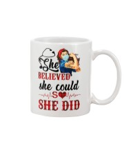 SHE DID T-SHIRT Mug thumbnail