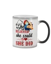 SHE DID T-SHIRT Color Changing Mug thumbnail