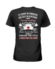 NURSE - LPN Ladies T-Shirt back