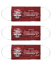 I Have Red Hair I Needed A Warning Label Cloth Face Mask - 3 Pack front