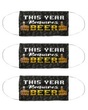 This Year Requires Beer 2020  Cloth Face Mask - 3 Pack front