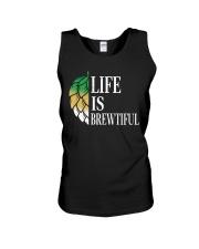 Life is brewtiful Unisex Tank thumbnail