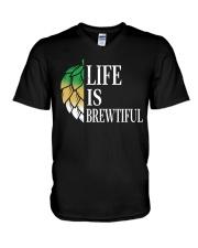 Life is brewtiful V-Neck T-Shirt thumbnail