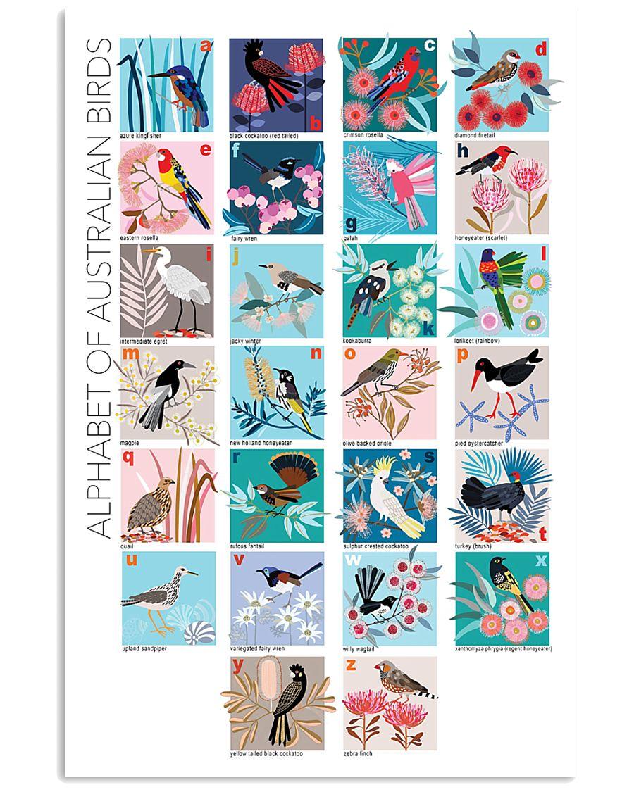 ALPHABET OF AUSTRALIAN BIRDS 11x17 Poster