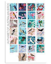 ALPHABET OF AUSTRALIAN BIRDS 11x17 Poster front