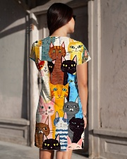 PERFECT DRESS 3D FOR CAT LOVERS All-over Dress aos-dress-back-lifestyle-1