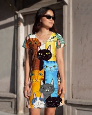 PERFECT DRESS 3D FOR CAT LOVERS All-over Dress aos-dress-front-lifestyle-1