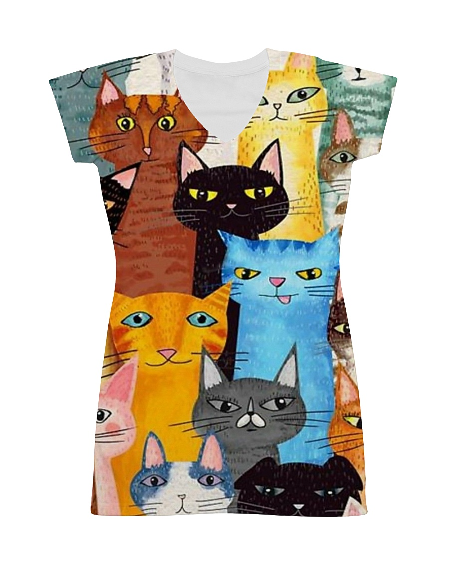 PERFECT DRESS 3D FOR CAT LOVERS All-over Dress