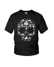 CAMPING SHIRT - SKULL Youth T-Shirt thumbnail