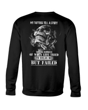 MY TATTOOS TELL A STORY Crewneck Sweatshirt thumbnail