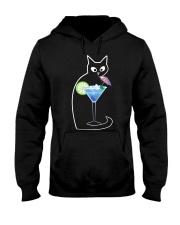 BLUE LAGOON COCKTAIL CAT Hooded Sweatshirt thumbnail