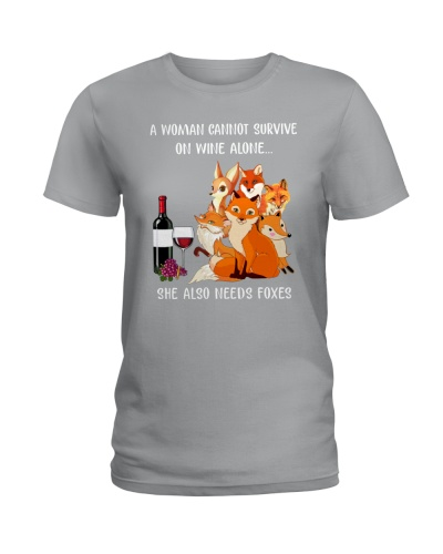 CANNOT SURVIVE ON WINE ALONE ALSO NEEDS FOXES