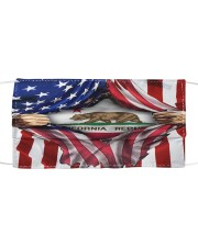 FLAGS CALIFORNIA Cloth face mask front