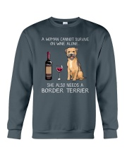 She Also Needs A Border Terrier Crewneck Sweatshirt thumbnail