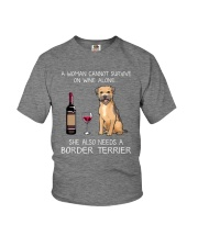 She Also Needs A Border Terrier Youth T-Shirt thumbnail