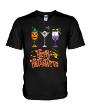 HAPPY HALOWINE V-Neck T-Shirt thumbnail