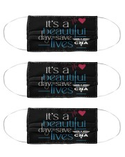 It's A Beautiful Day To Save Lives CNA Cloth Face Mask - 3 Pack front