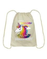 I Am A Unicorn Drawstring Bag front