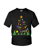 Merry Christmas with Donkeys Youth T-Shirt thumbnail
