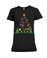 Merry Christmas with Donkeys Premium Fit Ladies Tee thumbnail