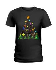 Merry Christmas with Donkeys Ladies T-Shirt thumbnail