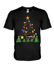 Merry Christmas with Donkeys V-Neck T-Shirt thumbnail
