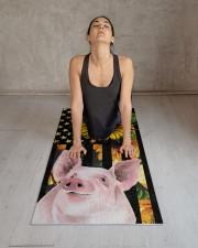 pig yoga Yoga Mat 24x70 (vertical) aos-yoga-mat-lifestyle-17