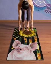 pig yoga Yoga Mat 24x70 (vertical) aos-yoga-mat-lifestyle-25