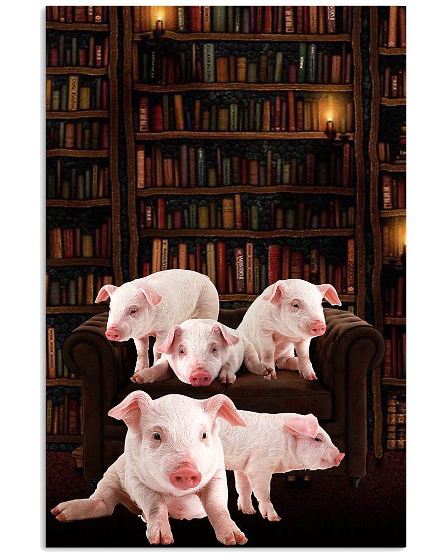 Pig-Book 24x36 Poster