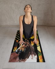 horse yoga Yoga Mat 24x70 (vertical) aos-yoga-mat-lifestyle-17