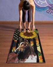 horse yoga Yoga Mat 24x70 (vertical) aos-yoga-mat-lifestyle-25