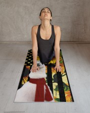 Llama yoga Yoga Mat 24x70 (vertical) aos-yoga-mat-lifestyle-17