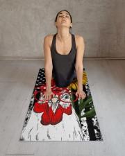 chicken yoga Yoga Mat 24x70 (vertical) aos-yoga-mat-lifestyle-17