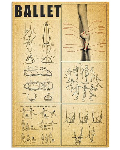 Limited edition Ballet Knowledge Vertical Poster