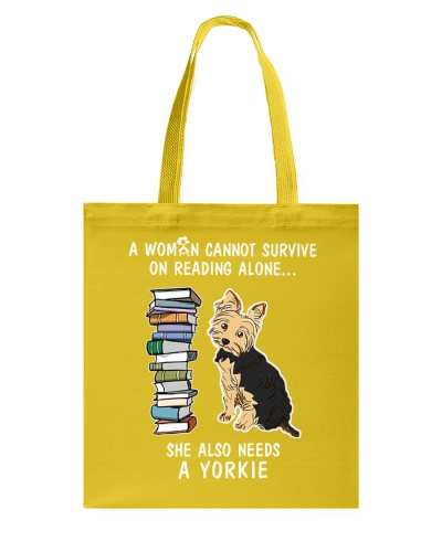 WOMAN READING LOVER YORKIE DOG LOVER
