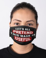 VAK041 Let's All Pretend This Mask Is Useful Cloth Face Mask - 3 Pack aos-face-mask-lifestyle-01