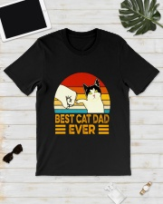 NTK002   Best Cat Dad Ever Classic T-Shirt Classic T-Shirt lifestyle-mens-crewneck-front-17