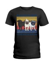Pug Make Me  Ladies T-Shirt tile