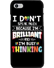 Autism I Dont Speak Much Im Brilliant Phone Case tile