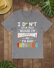 Autism I Dont Speak Much Im Brilliant Classic T-Shirt lifestyle-mens-crewneck-front-18
