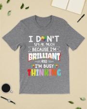 Autism I Dont Speak Much Im Brilliant Classic T-Shirt lifestyle-mens-crewneck-front-19