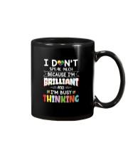 Autism I Dont Speak Much Im Brilliant Mug tile