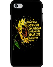 I Became A School Counselor  Phone Case tile