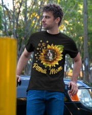 Pitbull Mom Sunflower Mother Day Gift  Classic T-Shirt apparel-classic-tshirt-lifestyle-front-44